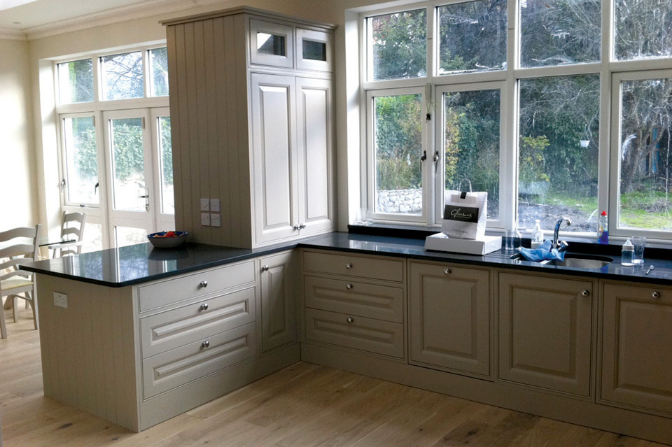 Cream Classic Kitchen_Duck Egg Blue Classic Kitchen_Shaker_Belfast Sink_Aga_Robert Mooney Furniture_South Dublin_North Wicklow