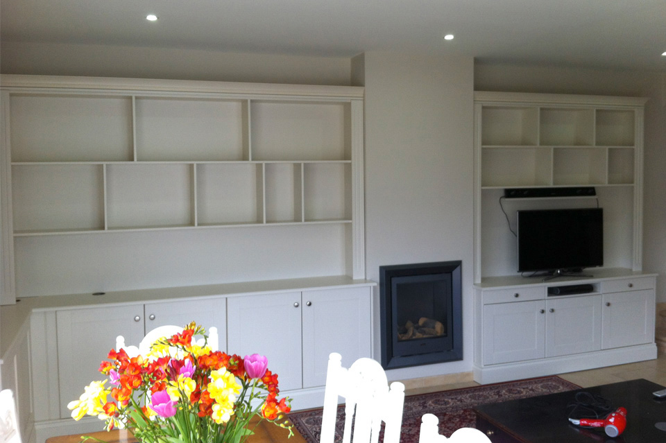 Living Room_Built In Storage_White