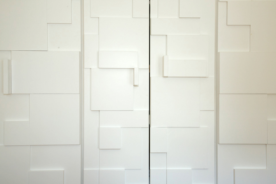 Contemporary_Modern_White Wardrobe_Cubist_Graphic Pattern_Robert Mooney_Dublin South_Wicklow North