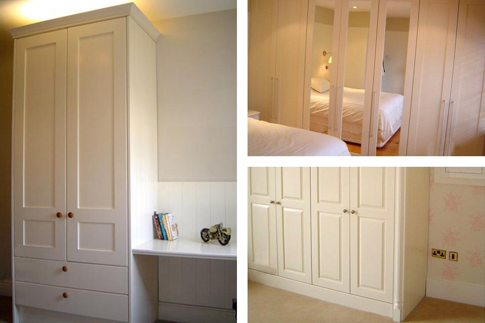 Wardrobes_Classic_Shaker Style_White_Cream_Mirrors